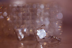 Crystal bracelet and earrings Stock Image