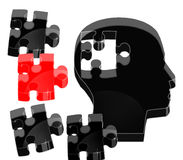 Crystal brain puzzle Royalty Free Stock Photos