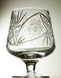 Crystal brandy glass Stock Photo