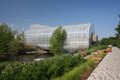 Crystal Bridge in city Oklahoma Stock Photo