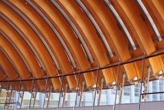 Crystal Bridges Museum van Amerikaans Art Span Detail Stock Foto's