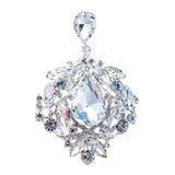 Crystal brooch. Isolated on white background Stock Photos