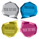 Crystal bubbles speech Stock Images