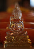 Crystal Buddha, Wat Saket, Boeddhistische tempel in Bangkok, Thailand Royalty-vrije Stock Foto