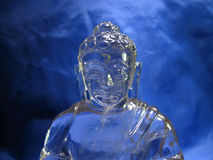 Crystal bust of buddha Stock Photo