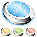 Crystal button Royalty Free Stock Image