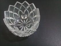 Crystal Canister di vetro pesante bianco Fotografia Stock