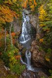 Crystal Cascade e Autumn Colors fotografia de stock