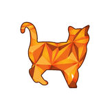 Crystal cat. On White Background Stock Images