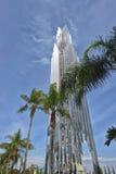 Crystal Cathedral è una costruzione di chiesa Immagini Stock Libere da Diritti