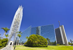 Crystal cathedral. And tower of hope in los angeles Stock Image