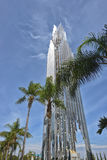 The Crystal Cathedral is a church building Royalty Free Stock Images