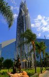 Crystal Cathedral and Prayer Spire Stock Photography