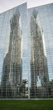 Crystal Cathedral. Reflections of the towers from the Crystal Cathedral Royalty Free Stock Image