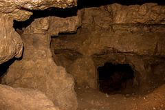 Crystal Cave is located near the Wisconsin/Minnesota Border in S. Pring Valley stock photo