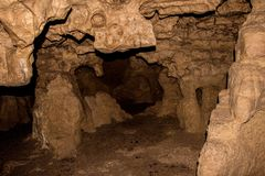 Crystal Cave is located near the Wisconsin/Minnesota Border in S royalty free stock photography