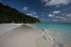 Crystal cear sea at Andaman sea Royalty Free Stock Photo