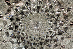 Crystal ceiling. Crystal sculpture patterns on luxurious ceiling stock photography