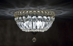 Crystal Ceiling chandelier Stock Images