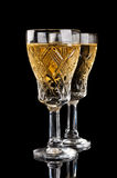 Crystal champagne glass Stock Photos