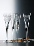Crystal champagne glasses Stock Image