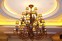 Crystal chandelier stock photos