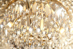 Crystal chandelier. The crystal chandelier house with lamps stock images