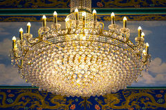Crystal Chandelier Royaltyfri Bild