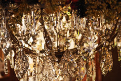 Crystal  chandelier abstraction. Crystal chandelier abstraction.  Crystals hanging from a lamp close up shallow depth of field Royalty Free Stock Photo