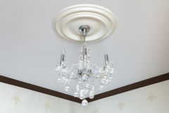 Crystal Chandelier antique Image stock