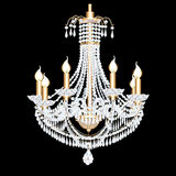 Of a crystal chandelier antique with pendants Stock Photo