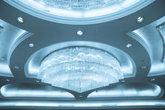 Crystal Chandelier In A Banquet Hall Royalty Free Stock Photography