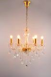 Crystal Chandelier belysning royaltyfri fotografi