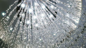Crystal chandelier. Big classic crystals. stock footage