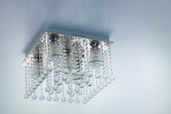 Crystal chandelier on ceiling Royalty Free Stock Photo