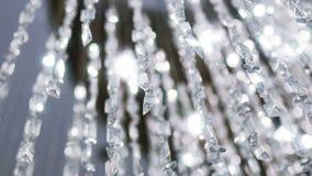 Crystal Chandelier Chiuda su dei cristalli stock footage