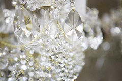 Crystal chandelier. Close-up of a beautiful crystal chandelier royalty free stock image