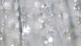Crystal chandelier. Close up of the crystals. stock video footage