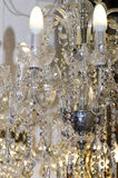 Crystal chandelier close-up Royalty Free Stock Image