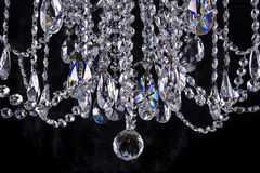Crystal chandelier close-up Royalty Free Stock Photography