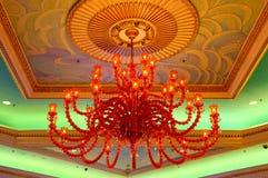 Crystal chandelier stock image