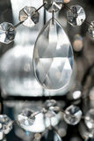 Crystal Chandelier de lujo Ciérrese para arriba en el cristal imagen de archivo