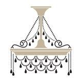 Crystal Chandelier Decorated com gotas de vidro ilustração royalty free