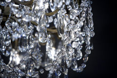 Crystal Chandelier Detail Stock Images