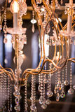 Crystal chandelier from fancy restaurant Stock Photography