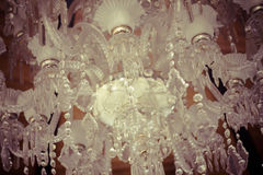 Crystal chandelier.Glamour concept background with copy space Royalty Free Stock Photos