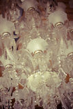 Crystal chandelier.Glamour concept background with copy space Royalty Free Stock Image