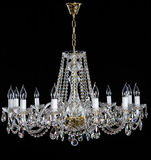 Crystal Chandelier Groep het hangen van kristallen Royalty-vrije Stock Foto's