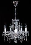 Crystal Chandelier Groep het hangen van kristallen Royalty-vrije Stock Fotografie