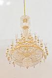 Crystal Chandelier. Group of hanging crystals. Royalty Free Stock Image